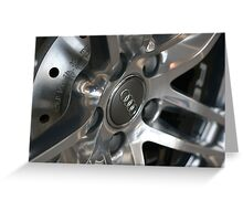 2011 Audi R8 Wheel and Rotor Greeting Card
