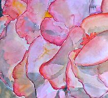 Peachy begonia by ArtbyInese2015