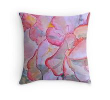 Peachy begonia Throw Pillow