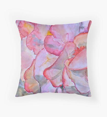 Peachy begonia Throw Pillow