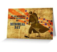 World War two American soldier marching vintage Greeting Card