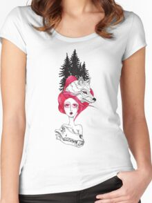 Red Riding Hood Women's Fitted Scoop T-Shirt