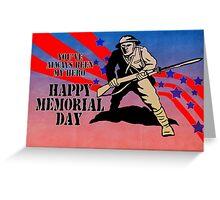 World War One American soldier bayonet rifle Greeting Card