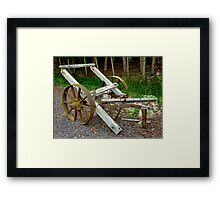 Old Farm Implement - Old Chariot Framed Print