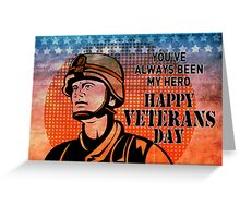 American soldier military serviceman hero vintage Greeting Card