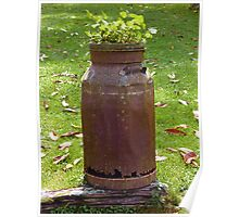 Old Milk Can - Old Cottage Maid  Poster