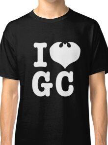I Love GC: White Text Classic T-Shirt