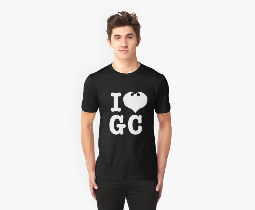 I Love GC: White Text by TopMarxTees