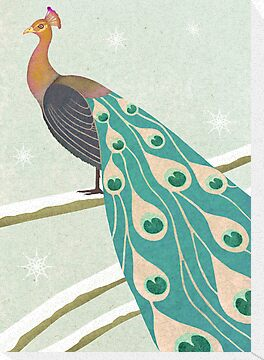 winter christmas peacock by bymuravka