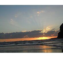 Sun set at Bethells beach ~ Photographic Print