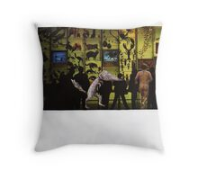Fantastic Mr Fox (Carnivalesque Collage Series) Throw Pillow