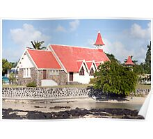 Chapel/church of cap Malheureux,Mauritius Poster