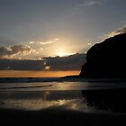 `*  sunset at bethells *` by chrissy mitchell