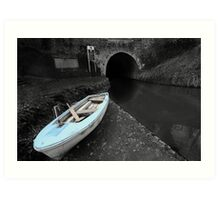Bruce Tunnel and Little Blue Boat Art Print