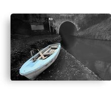 Bruce Tunnel and Little Blue Boat Metal Print