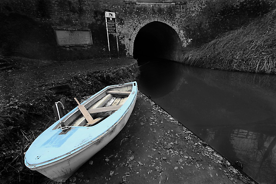Bruce Tunnel and Little Blue Boat by Samantha Higgs