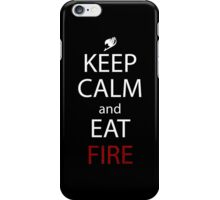 fairy tail natsu keep calm and eat fire anime manga shirt iPhone Case/Skin