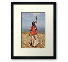 GIRL WITH AN AK47 Framed Print