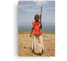 GIRL WITH AN AK47 Canvas Print