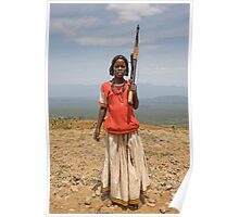 GIRL WITH AN AK47 Poster