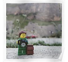 Lego hiker and photographer Poster