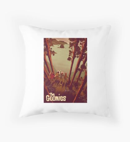 The Goonies Never Say Throw Pillow