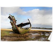 Old Fishing Boat Fleetwood Lancashire HDR Poster