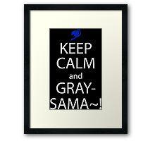 fairy tail juvia gray keep calm anime manga shirt Framed Print