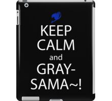 fairy tail juvia gray keep calm anime manga shirt iPad Case/Skin