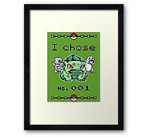 I chose 001 Framed Print