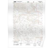 USGS Topo Map Oregon Horse Prairie 20110727 TM Poster