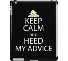 fairy tail mavis keep calm and heed my advice anime manga shirt iPad Case/Skin