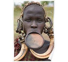YOUNG MURSI WOMAN Poster