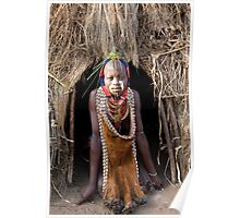 YOUNG WOMAN FROM THE KARO TRIBE Poster