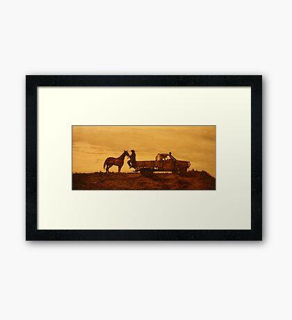 A Queensland Stockman Framed Print