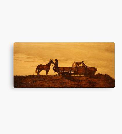 A Queensland Stockman Canvas Print