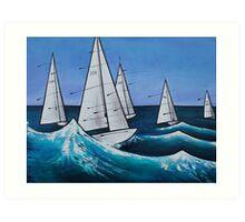 'Sail through the Storm' Art Print