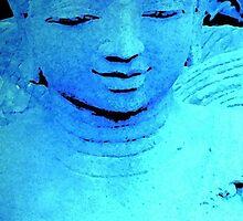 Buddah in Blue  by Louise Linossi Telfer