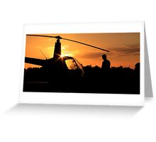 Pre-flight helicopter  Greeting Card