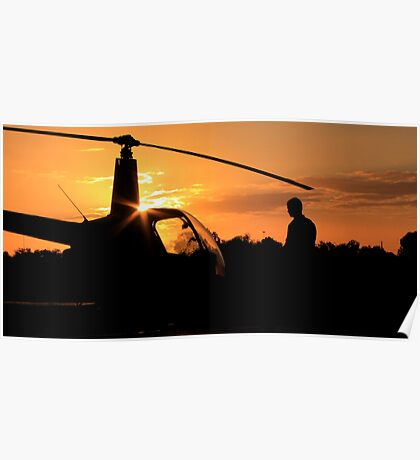Pre-flight helicopter  Poster