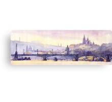 Prague Panorama Chehuv Bridge Canvas Print