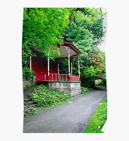 Bandstand on Lovers Walk, Matlock Bath Poster