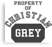 Property of Christian Grey Canvas Print