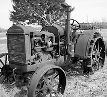 Rusted Work Horse  (B/W version) by ArtBee