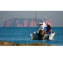 Remote Fishing Photographic Print
