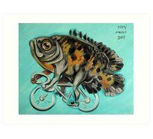 Oscar On A Bicycle Art Print