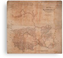 Map of Stafford County Virginia (1863) Canvas Print