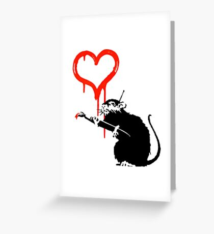 Banksy - Love Rat Greeting Card