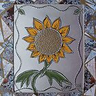 Vintage Punched Tin Sunflower by linmarie