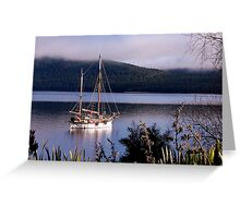 Manouska, Lake Te Anau, NZ. Greeting Card